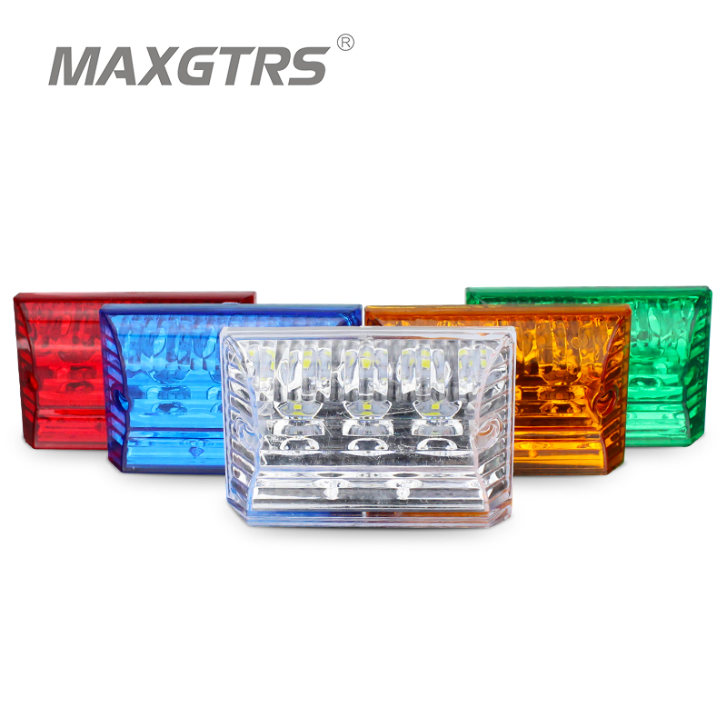 12 LED Car Truck Tail Light Warning Rear Lamps Waterproof Turn signal Tailights Side Rear Parts Trailer Truck Boat DC 12V/24V