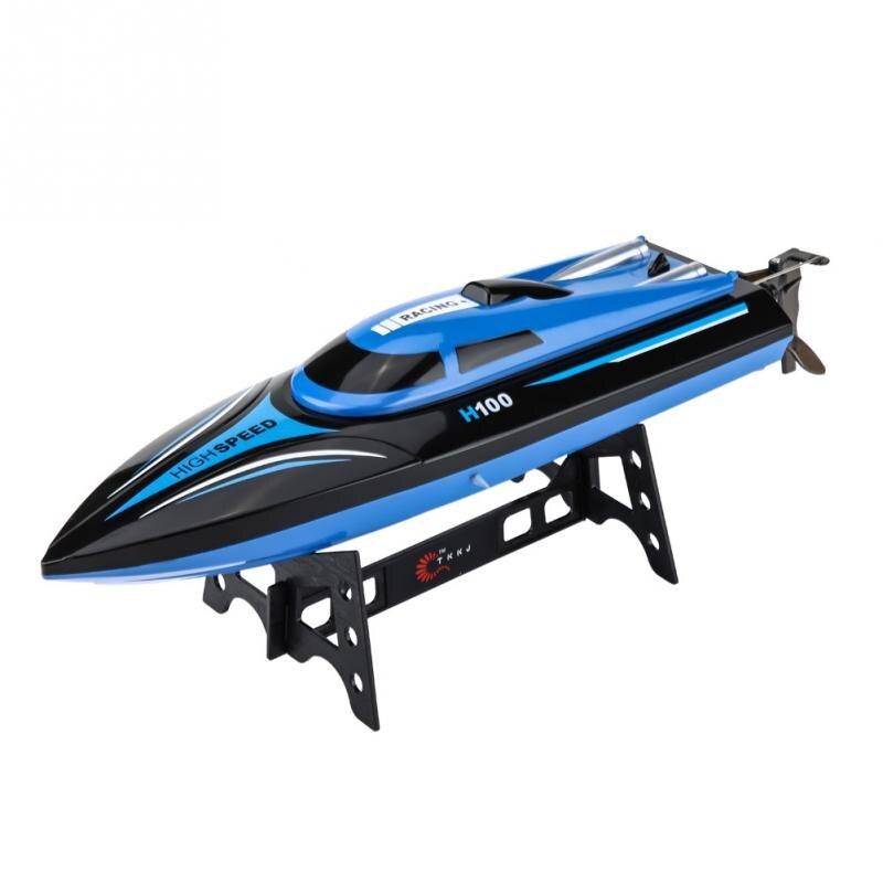 все цены на High Speed RC Boat 2.4GHz 4 Channel 25km/h H100 Remote Control Boat Racing Speedboat Model Boat Toy Ship Gifts For Children Kids
