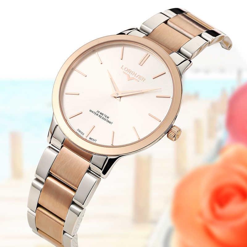 Lorinser 2019 часы для влюбленных SWISS move Мужские t водонепроницаемые женские парные часы женские наручные часы кварцевые мужские часы из полной стали мужские часы