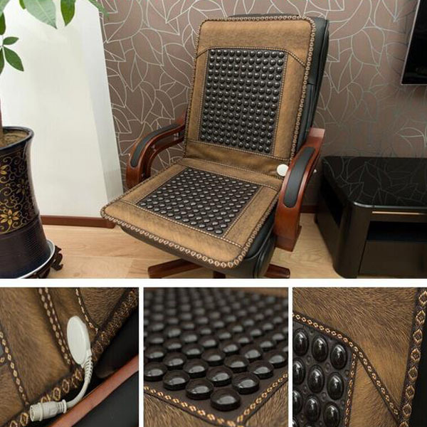 As seen <font><b>on</b></font> tv 2016 Natural Jade Mattress Korea Tourmaline Mattress Heated Health Seat Cover Heating Massage Seat Cover For Sale