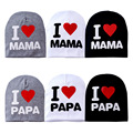 Fashion Baby Hats Winter Cotton Warm Toddler Beanie Baby Hat Cap Kids Girl Boy I Love Papa Mama Print Kid Baby Boy Hat