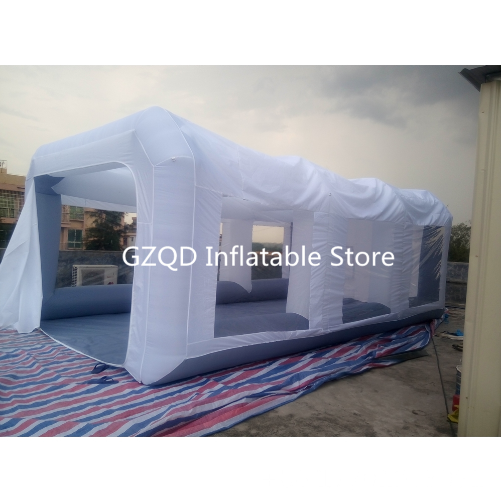 Oxford Cloth + PVC Portable Inflatable Paint Cube Tent Booth For Sale Foldable Inflatable Spray Booth Painting Room attractive advertising inflatable booth white or colorful inflatable cube tent