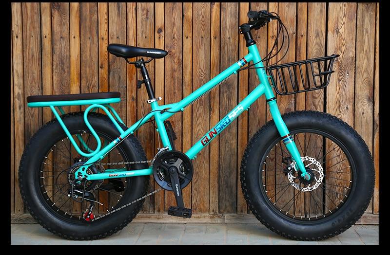 HTB1FyNMSgHqK1RjSZFPq6AwapXa5 KUBEEN mountain bike 21 speed 2.0 inch bicycle Road bike Fat Bike Mechanical Disc Brake Women and children bicycles