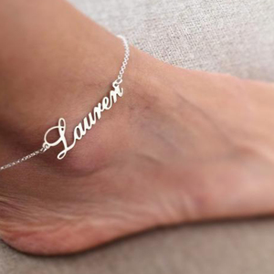 Personalized Name Anklet Gold