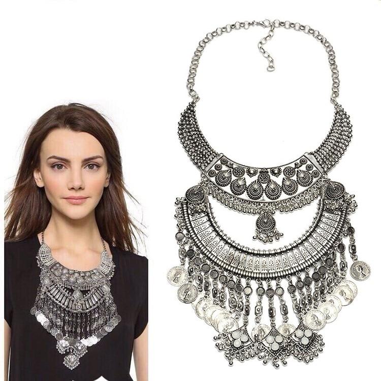 JERPVTE Vintage srebrne ogrlice i privjesci Vintage Crystal Maxi - Modni nakit - Foto 4