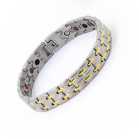2017 Fashion Bracelets for Women & Men Bio Health Care Jewely 5 in 1 Magnet Therapy Bracelet Hologram Bracelets