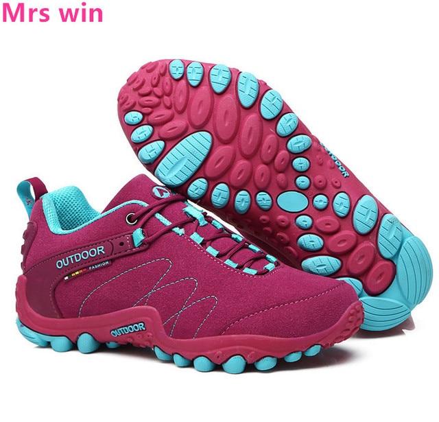 72ec866034ffb Mujeres deportes antideslizantes senderismo zapatos al aire libre militar  soldados tácticos cross country calzado impermeable zapatos