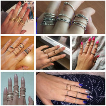 IF ME 12pcs/Lot Eagle Crystal Gold Color Ring Set For Engagement Women Jewelry Midi Finger Ring Party For Girls Anillos