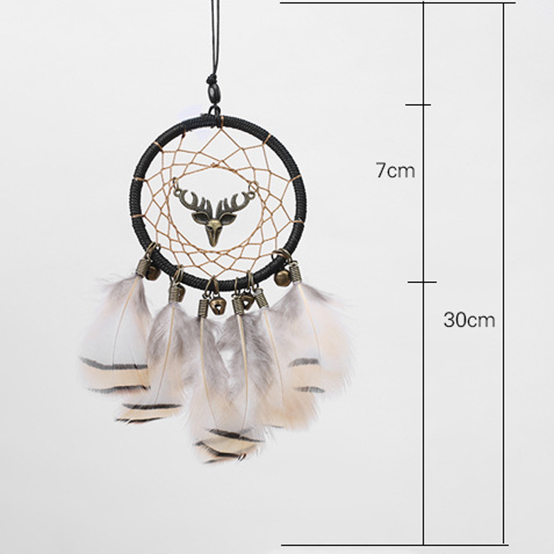 Image 3 - Handmade Dream Catcher Ethnic Feather DreamCatcher Home Wall car wedding Art Hangings Decorations Gift Pendant 2019-in Ornaments from Automobiles & Motorcycles