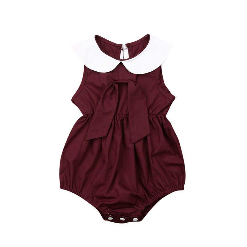 Lindo niños bebé niña mono bebé mono de niña de verano ropa Braga de algodón mono
