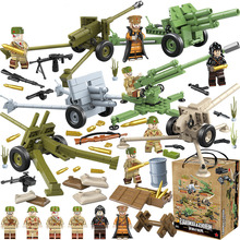 Enlighten WW2 Military Russian Soviet Army Soldier Figures Heavy Weapons Accessories Building Blocks Bricks Toys for Children