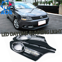 2PCs Set Car Styling LED DRL Set LED Car DRL Daytime Running Lights For Volkswagen VW