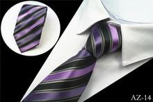 JEMYGINS New Design 100% Silk Men Tie 8cm Striped Classic Business Neck Tie For Men Suit For Wedding Party Necktie Factory Sale