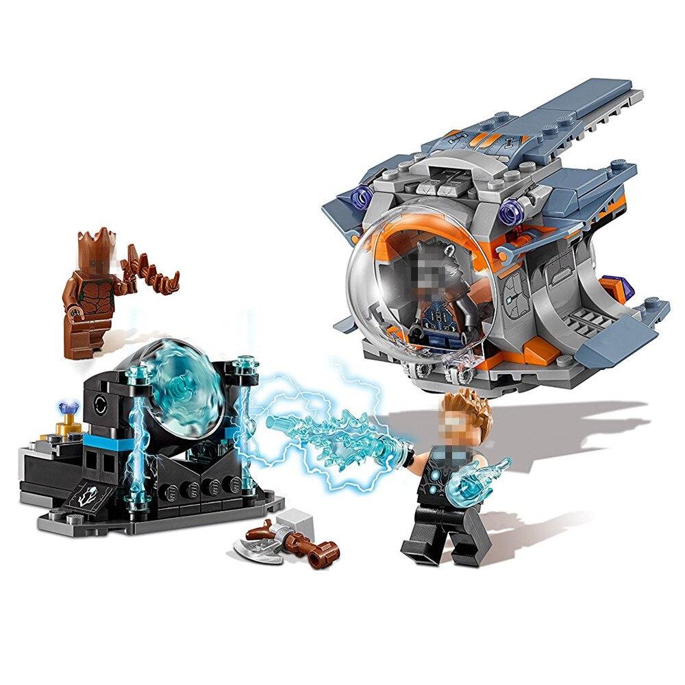 Super Heroes Thor's Weapon Quest Avengers Infinity War Building Block Bricks Set Movie Classic Toys Marvel Compatible Legoe все цены
