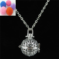 New 2017 Y20987 Aromatherapy Antique Silver Copper 20mm Rose Locket Necklace 24