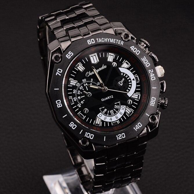 Men Wacth CYD Brand New Black Stainless Steel Exquisite Fashion Sports Wristwatch Hot Sale Quartz Watch Masculino Reloje Clock