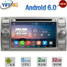Android 6.0 Octa Core 4G 2 GB RAM 32 GB ROM de DVD Del Coche de Radio jugador de los GPS Para Ford Focus Mondeo C-MAX Fusión Tránsito Kuga S-MAX Conectar
