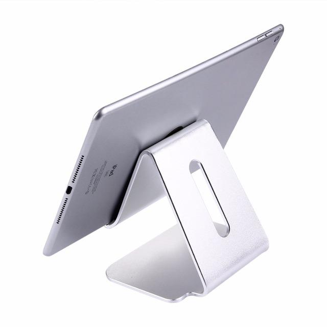 Cnc de aleación de aluminio portátil tablet sostenedor del soporte de escritorio para ipad & iphone & tablet