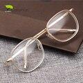 Rodada Transparente Óculos de Nerd Homens Miopia Lente Óptica Retro do Ouro Do Vintage Óculos Claros Mulheres Óculos Frames Eyewear