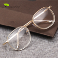 Ronda Transparente Gafas Nerd Lente Transparente Vintage Gafas Hombres Miopía Óptica Retro Oro Mujeres Marcos de Las Lentes Eyewear