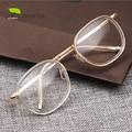 Round Transparent Nerd Glasses Vintage Clear Glasses Myopia Men Optical Lens Retro Gold Women Eyeglasses Frames Eyewear