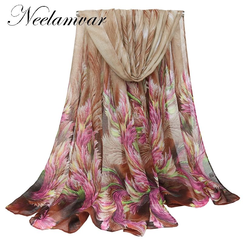 Neelamvar high quality WOMAN   SCARF   cotton voile shawl warm Autumn and Winter printed   wraps     scarves