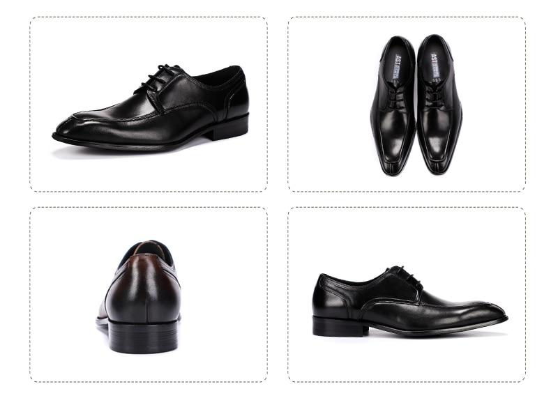 Men's Casual Shoe Business Mens Genuine Leather Shoes Men Big Size 45 Casual Leather Oxford Shoes For Men Lace Up Brogues Formal (5)