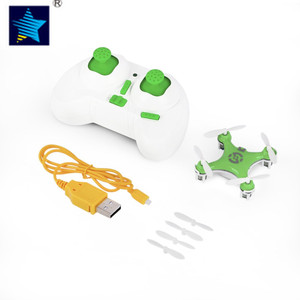 Green RC Quadcopter helicopter