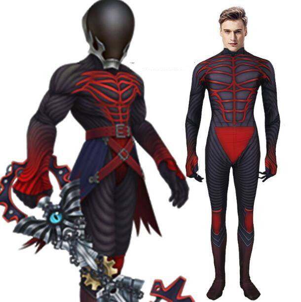 Kingdom Hearts Vanitas Cosplay Costume Halloween Adult Kids Jumpsuits Tights Cos