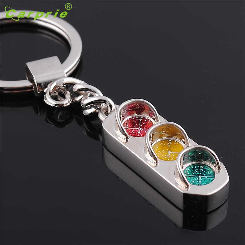 Creative Traffic light Key Chain Ring Keyring Metal Keychain