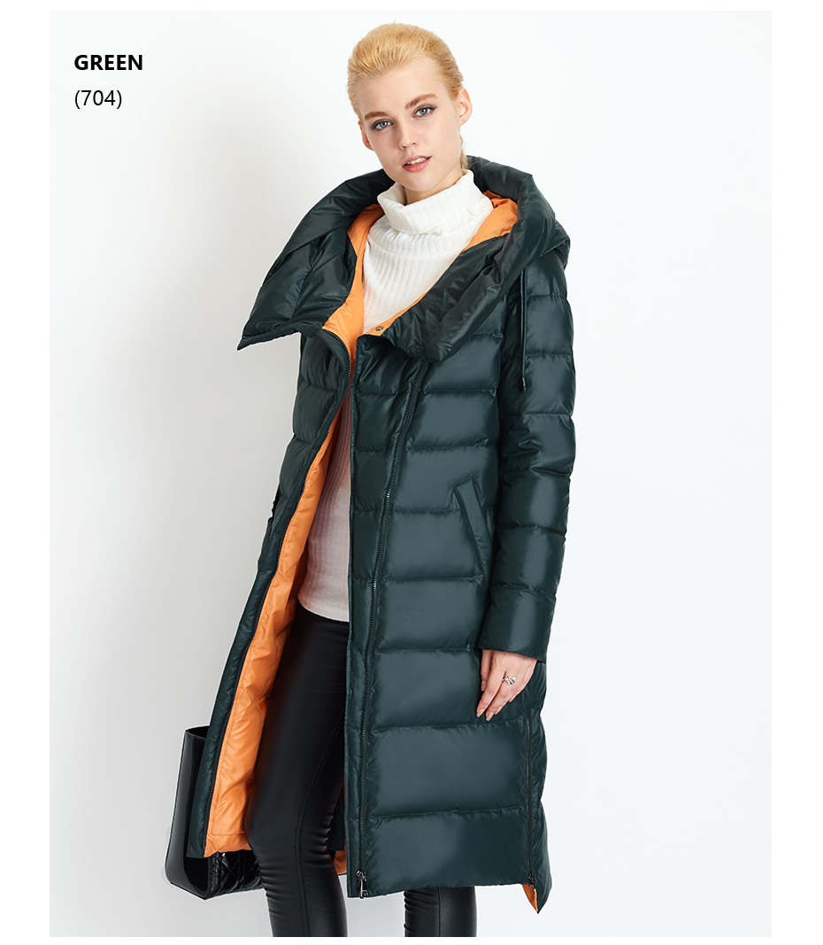 Fashionable Coat Jacket Women's Hooded Warm Parkas Bio Fluff Parka Coat High Quality Female New Winter Collection 28