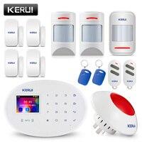 KERUI W20 GSM APP Control TFT Color Screen Security Alarm System RFID Card Disalarm Wireless Home Burglar Alarm Set