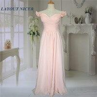 Nude Pink V Neck Pleat Chiffon Cap Sleeve Beautiful Women Customized Long Simple Elegant Evening Dresses