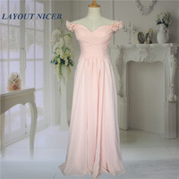 Nude Pink V Neck Pleat Chiffon Cap Sleeve Beautiful Women Customized Long Simple Elegant Evening Dresses