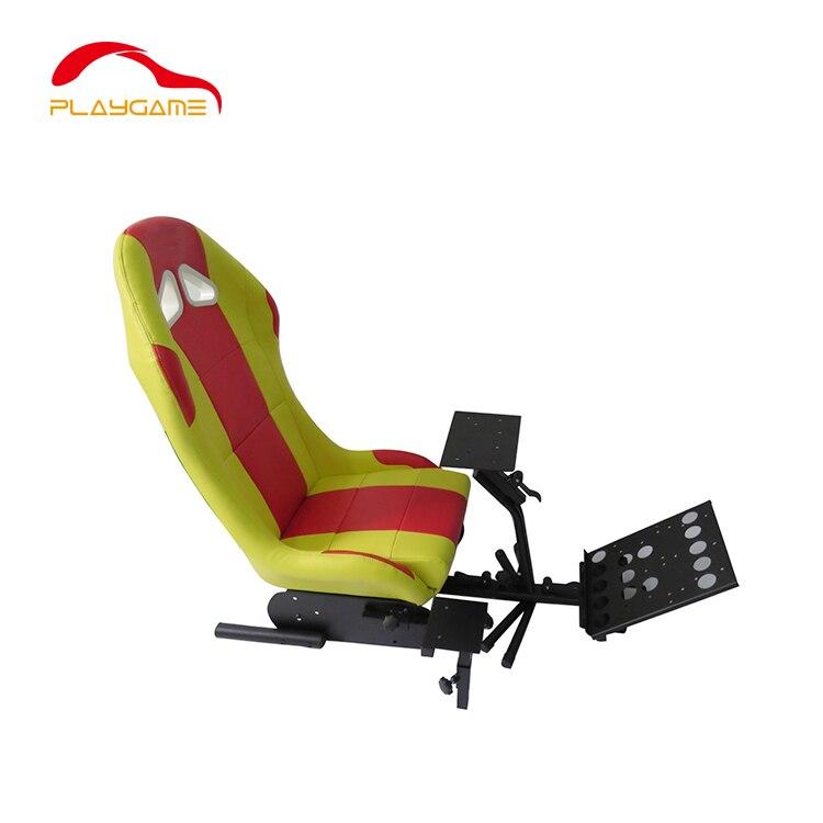 Siège de jeu pliable en cuir de simulateur de course de dérive jaune pour Logitech G29 G29 PS Xbox