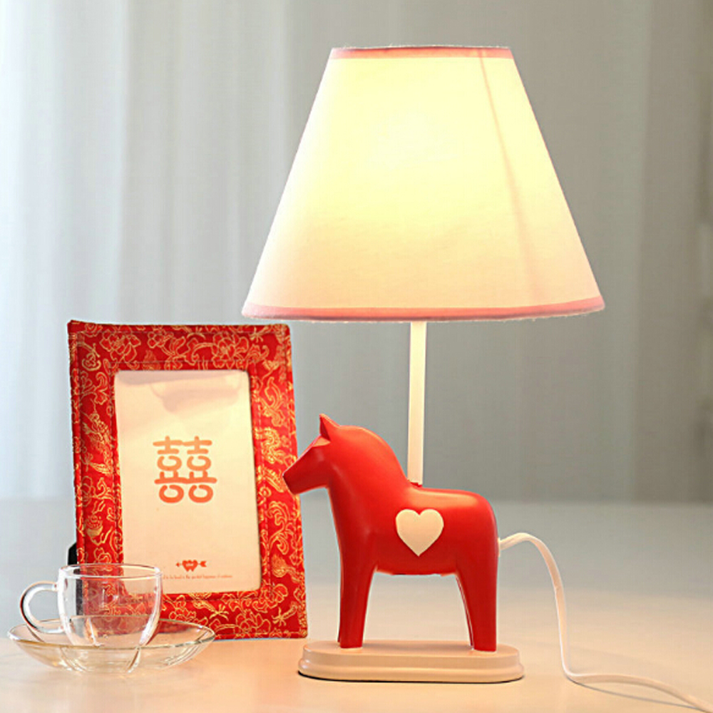 High Quality Switch Button Kids Cartoon Desk Lamp E14 110V-220V Children Room Led Table Lamp Trojan Cute Nordic Fashion Lamp high quality table lamp full range dimmer gold tone rotary switch 2 wire connector