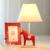 Interruptor de Botón de alta Calidad Niños de Dibujos Animados de Escritorio de La Lámpara E14 110 V-220 V Niños Habitación Llevó la Lámpara de Mesa de Troya lindo Nórdico Lámpara de Moda