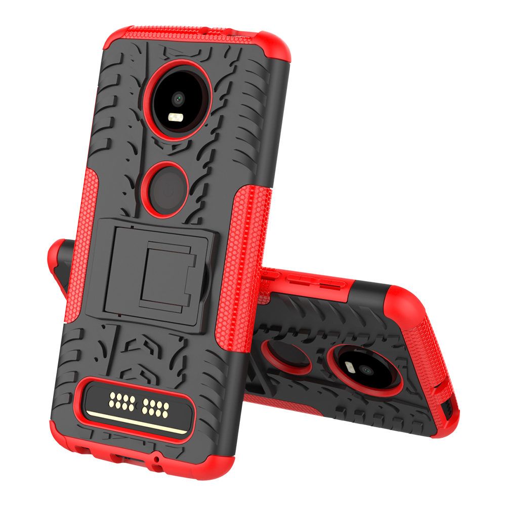 For Motorola Moto Z4 Play Hybrid TPU Armor Silicone Rubber Hard Case Hard Back Cover Shockproof Impact Case in Fitted Cases from Cellphones Telecommunications