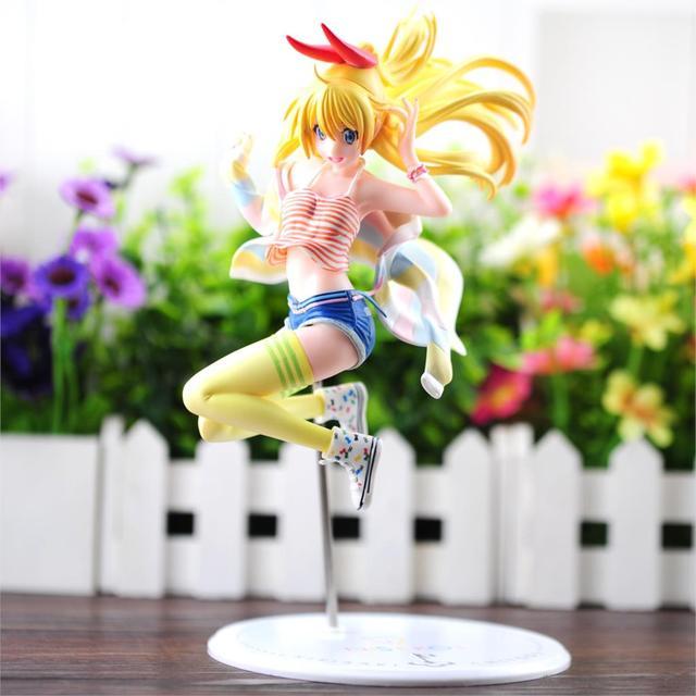 Anime Nisekoi Kirisaki Chitoge PVC 1/8 Escala Pré-pintada Figura Collectible Modelo Toy 23 cm KT1772
