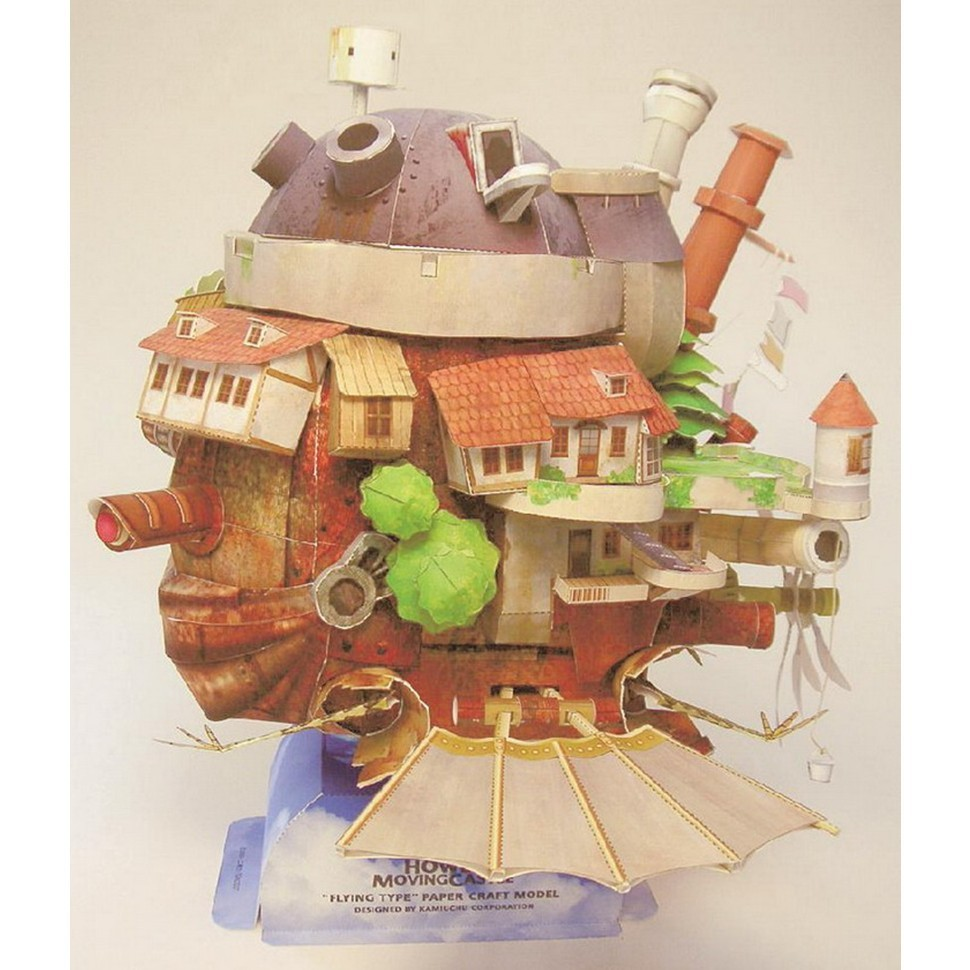 Howls Moving Castle Fun 3d Metal Diy Miniature Model Kits Puzzle Kawasaki Forums Drgnsbld39s Album Wiring Diagram For Bayou Toys Children Educational Boy Splicing Science Hobby Building Us391
