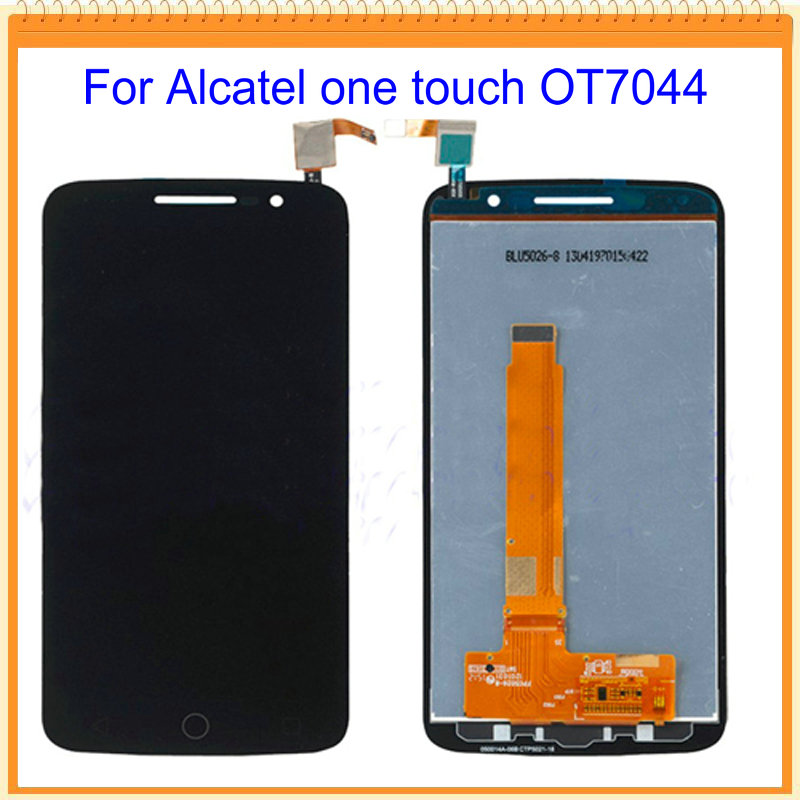 100 New Tested LCD For Alcatel One Touch Pop 2 Premium 7044 OT7044 LCD Screen Display