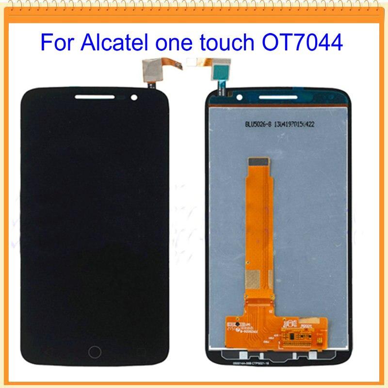 imágenes para 100% nueva probado lcd para alcatel one touch pop 2 premium 7044 ot7044 lcd exhibición de pantalla con digitalizador de la pantalla táctil asamblea