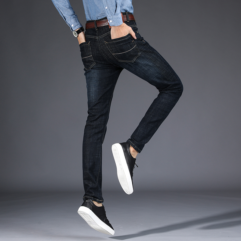 2018 new high-quality full length jeans men, fashion Slim Straight jeans clothes males Causal Pants 8913