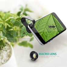 AUKEY 3in1 Clip-on Cell Phone Camera 180 Degree Fisheye Lens Wide Angle and Macro Lens for Smartphone