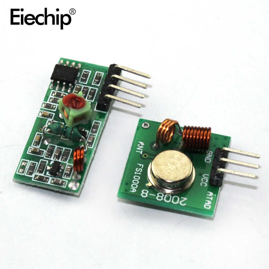 1 Pasang 315/433Mh RF Transmitter dan Receiver Modul Link Kit UNTUK ARDUINO/Lengan/MCU WL DIY 315/433M Hz Nirkabel DIY Starter Kit