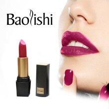 baolishi New Brand lipstick Healthy Moisturizer Smooth Waterproof lips Fashion Color Long Lasting Matte Lipstick
