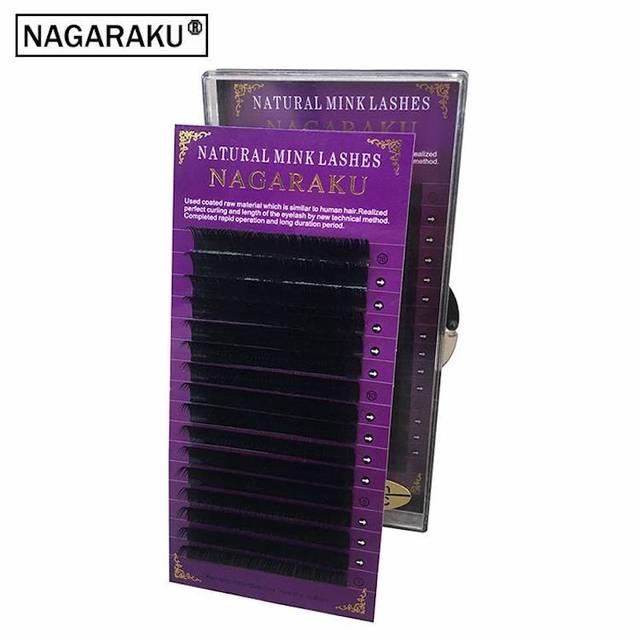 NAGARAKU Hoge kwaliteit wimper extension nertsen, individuele wimper extension, natuurlijke wimpers, fake valse wimpers, 1 case