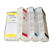 Para HP10 HP82 Cartucho de Tinta Recarregáveis Para hp Deskjet 500/500 ps 800/800 ps 815MFP/820MFP com chips ARC frete grátis