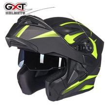 GXT New Motorcycle Helmet Flip up Motocross Helmet Capacete da Motocicleta Cascos Moto Casque Doublel lens Racing Riding Helmets