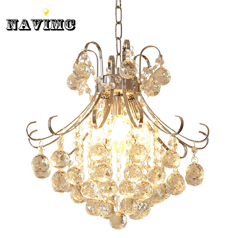 Modern Luxury LED Gold Crystal Chandelier Restaurants Bedroom Crystal Lamp Fashion Creative Living Room Lamp Aisle Crystal Light modern fashion creative k9 crystal wifi design led 9w wall lamp for living room bedroom aisle corridor bathroom 80 265v 2063